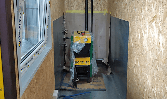 Installation of equipment in a modular building