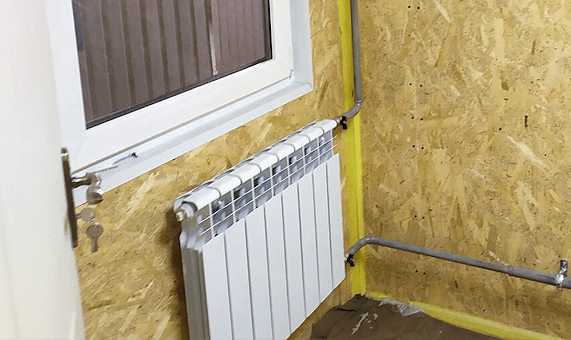 Heating in a modular building
